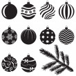 Christmas baubles set — Stock Vector