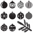 Christmas baubles set — Stockvectorbeeld