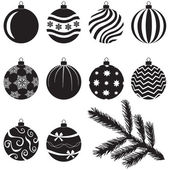 Christmas baubles set — Vettoriale Stock