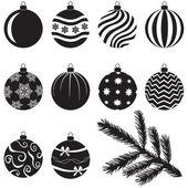 クリスマスつまらないものを設定します。 — ストックベクタ
