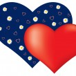 Royalty-Free Stock  : Valentine card with hearts