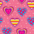 Decorative background with hearts - Stock Vector