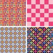 Seamless pattern set — Stock Vector