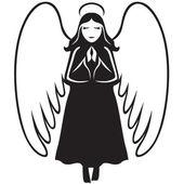 Angel praying — Stock Vector