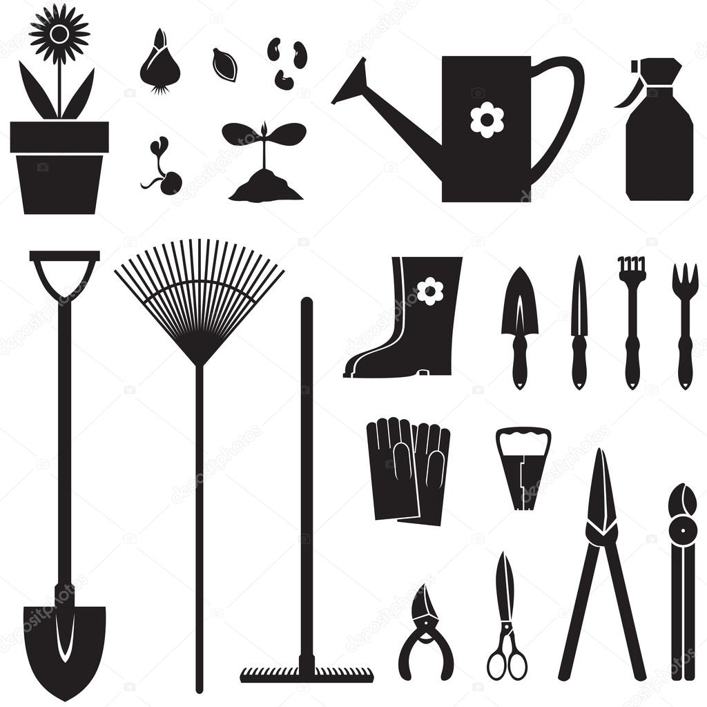 Garden equipment set Stock Vector agrino 18985565