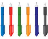 Multicolor pens — Stock Vector