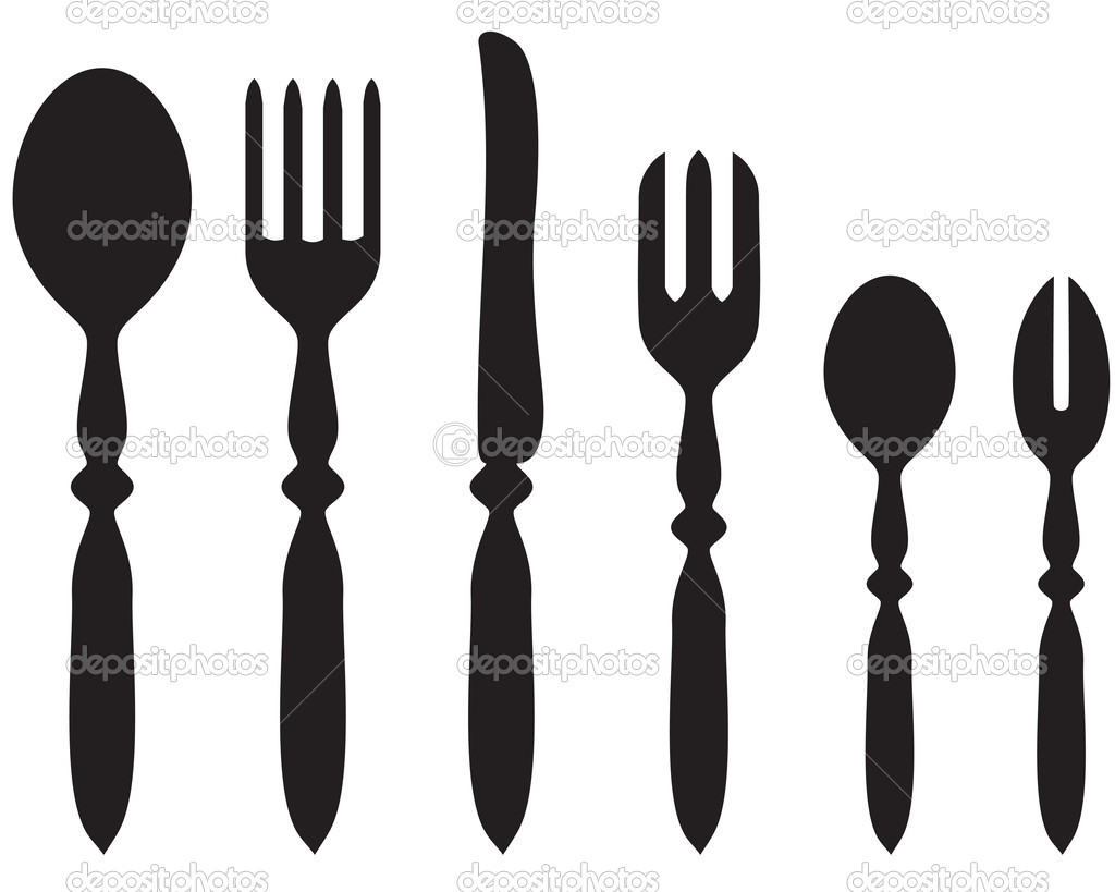 set cutlery stock vector agrino 19372277. Black Bedroom Furniture Sets. Home Design Ideas
