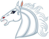 Cabeza de caballo — Vector de stock