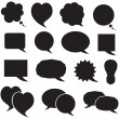 Set silhouette speech bubbles - Vettoriali Stock