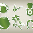 Set of icon of St. Patrick's Day — Stock Vector