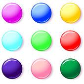 набор 3d цвет кнопки — Cтоковый вектор