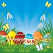 Easter congratulatory background - Stock Vector