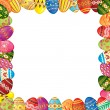 Easter eggs frame - Stock Vector