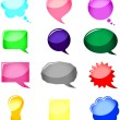 Royalty-Free Stock Vector Image: Set bright speech bubbles