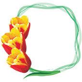 Marco de tulipanes — Vector de stock