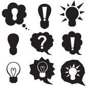пузыри речи с идеей символ — Cтоковый вектор