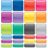 Conjunto de botón de color — Vector de stock