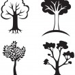 Stock Vector: Set trees icon