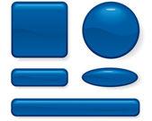 Conjunto de forma diferente de botão — Vetorial Stock
