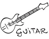 Guitar image — Stock Vector