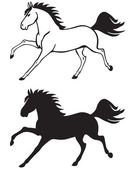 Galloping horse — Stock Vector