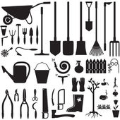 Garden equipment set — Stock Vector