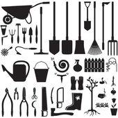 Garden equipment set — Stock Vector