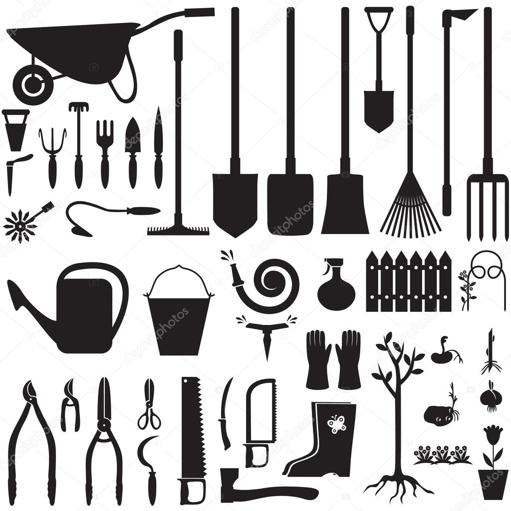 Garden equipment set Stock Vector agrino 23711635