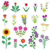 Flower set — Stock Vector