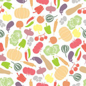 Vegetables seamless pattern — Cтоковый вектор