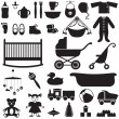 Set of children's things — Vettoriali Stock