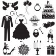 Wedding set - Stock Vector