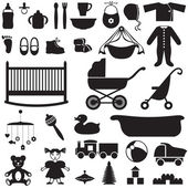 Set of children's things — 图库矢量图片
