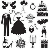 Bröllop uppsättning — Stockvektor