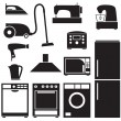Set of household appliances — Stock Vector #27143621