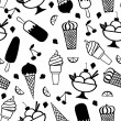 Ice cream pattern seamless — Stock Vector