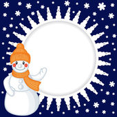 Fundo de boneco de neve — Vetor de Stock