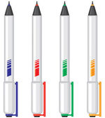 Color pens — Stockvektor