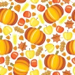 Autumn pattern — Stock Vector