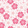 Pink flower seamless pattern — Stock Vector