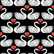 Swans seamless pattern — Stock Vector