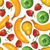 Fruit mix seamless pattern — Stock Vector