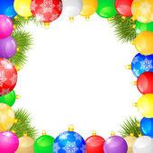 Christmas congratulations frame — Wektor stockowy