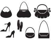 Handbag set — Stock Vector