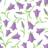 Bluebell seamless pattern — Stock Vector