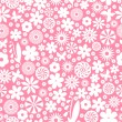 Stock Vector: Floral seamless pattern