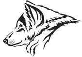Wolf snuit — Stockvector