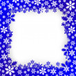 Christmas snow frame — Vector de stock