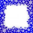 Stock Vector: Christmas snow frame