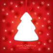 Christmas greeting card — Vector de stock